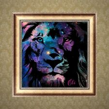 Lion 5D Full Diamond Embroidery Painting Rhinestone Cross Stitch Decor DIY Craft