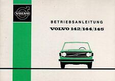 VOLVO 142 144 145 Betriebsanleitung 1973 Bedienungsanleitung Handbuch BA