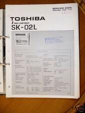 Manual de servicio para Toshiba SK-02L Sistema de alta fidelidad,ORIGINAL