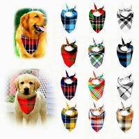 Dog Bandanas Large Pet Scarf Pet Bandana For Dog Cotton Plaid Washablebow Ties