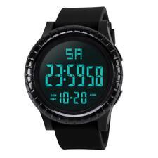 Hombres Relojes Pulsera SPORTS Militar Agua LCD Pantalla Dual Multifunciones LED