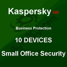 Kaspersky Small Office Security 10 Disp. 2018 - 1 Año - Nueva, no Preactivada