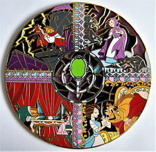 BEAUTY AND THE BEAST BELLE GASTON MIRROR STAINED GLASS 4 in FANTASY PIN LE 60