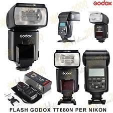 FLASH GODOX TT680N i-TTL NG58 PER NIKON D3300 D5300 D7100 D3200 D800 D5500 D3000