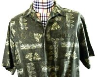 Woolrich Mens Multi-color Camo Short Sleeve Shirt Large Tall