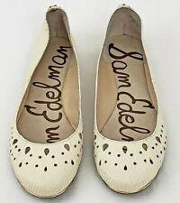 55ac38aec0b2 Sam Edelman Leighton Ballet Flats Beige Animal Print Round Toe Womens Shoes  8.5M