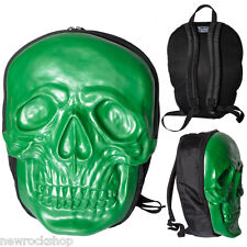 KREEPSVILLE 666 Skull Backpack in Monster Green Natural Latex Horror