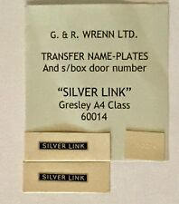 WRENN & Hornby Dublo Gresley SILVER LINK name plates PLUS smoke box door number