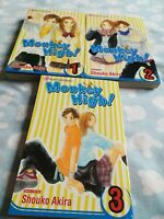 Monkey High Manga Vol.1, 2,3 Viz Media Shojo Beat
