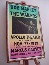 BOB MARLEY APOLLO THEATRE NEW YORK 1979 FRAMED CONCERT TOUR POSTER
