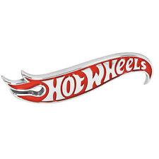 "Authentic Red & Chrome Hot Wheels Stick On Emblem 4.5"" 1.0"" OEM GM 22937305"