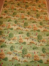 "Large Piece of Fabric Material Vintage Golf Scene 55"" x 81"" P Kaufmann Fabrics"