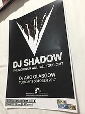 More details for dj shadow - rare gig poster, glasgow - october 2017