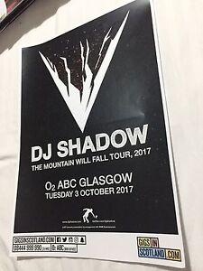 Dj Shadow - Rare Gig poster, Glasgow - October 2017