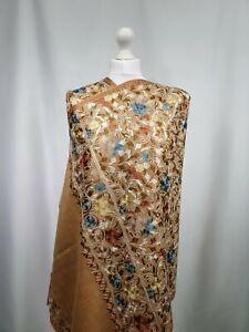 Kashmiri Shawl Stickerei floral bestickt Cashmere Wolle Schal Damen Ladies