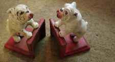 Bookends Cast Iron Bulldogs Rugged & Ready to Rumble distressed Finish