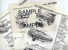 1954 1955 1956 1957 1958 STUDEBAKER BODY PARTS LIST FRAME CRASH SHEETS MRE
