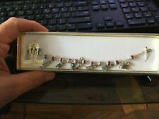 "NEW ""Lumen Mundi"" Bracelet 8 charms Nativity Scene Christmas 7 1/2"" Long NIP"