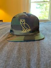 RARE OVO Camouflage Owl Hat Flat Brim with Flag