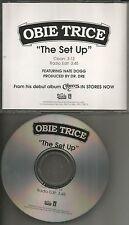 OBIE TRICE w/ NATE DOGG The Set Up w/ CLEAN & EDIT PROMO DJ CD single Dr. Dre