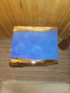 Live Edge Drift Wood Blue River Epoxy Table Top