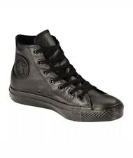 Men's Sz 6 Women's Sz 8 Converse Leather All Star Hi Sneakers Black Chuck Taylor
