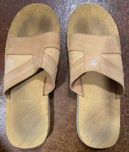 Timberland Men's Camel/Beige Size 13 Slides