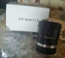 New  25HB 8MM F1.4 C port 2/3 Industrial Optics TV lens NIB