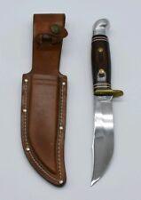 Vintage Western USA W66 Cutlery Hunting Knife  Rosewood Original Sheath