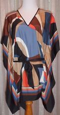 MICHAEL KORS FAB MULTI-COLOR TUNIC, 100% SILK, MINT CONDITION, PERFECT FIT
