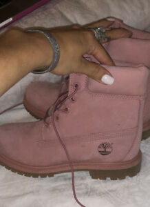 Timberland Womens Premium Pink Hiking Leather Boots US 7.5
