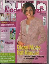 Burda Style 4/2002 Magazin Mode Brautmode Schnittmuster Schnittbögen unbenutzt