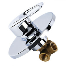 Modern Round Manual Concealed Chrome Shower Mixer Valve Single Lever Tap