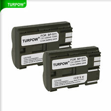 2x New BP-511 Replacement Battery Pack For Canon EOS 5D D60 Pro90 IS Pro1 Camera