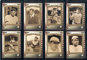 Guyana - 1995 MNH set of 12 Babe Ruth baseball card stamps #2913 Lot #21