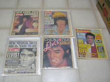 Elvis Presley Newspaper lot (4), Chicago Sun-Times, Star Midnight Globe Examiner