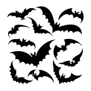 12 Bats Stickers Halloween Window Wall Decoration,Vinyl Decals Party Set J