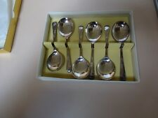 CRAFTSMAN SILVER WARE.Sheffield made. Soup spoons .EDINBURGH.EPNSA1.Original box