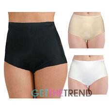 Womens Bodyfit Seamless High Waist Maxi Briefs Ladies Knickers Undies NO VPL