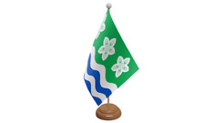 Cumberland Small Table Flag with Wooden Stand