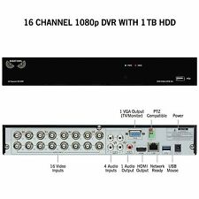Night Owl 16 Channel 1080p Analog HD DVR 1TB Security System HDA10PB-16