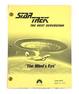 """STAR TREK:TNG ORIGINAL SCRIPT-""""The Mind's Eye,"""" Written by Echevarria &  Schafer"""