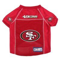 San Francisco 49ers NFL Little Earth V-Neck Pet Mesh Dog Jersey Sizes XS-XL