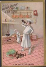 CHROMO PUBLICITAIRE MANUFACTURE CHAUSSURES/A.PRINCET-CUISINIER BOUTEILLE DE VIN