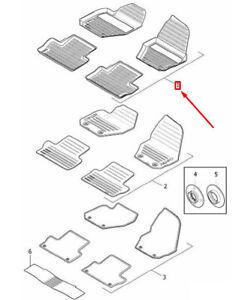 OEM VOLVO XC60 MK1 RUBBER FLOOR MATS SET LHD 39822900 GENUINE
