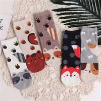 Breathable Comfortable Cat Dog Animal Pattern Women Cotton Socks Lady Warm Socks