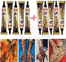 10x Golecha Henna tubi per Mehndi Tatuaggio 5x Marrone-rosso/5x Nero Non ppd