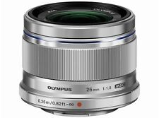 Olympus M.ZUIKO DIGITAL 25mm F1.8 Lens Silver  Japan Domestic Version New