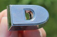 """1960 1961 FORD FALCON RANCHARO Chrome Letter """"D"""" Emblem  OEM #C0DB-16606-D"""