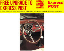 """Grant 15"""" Classic Steering Wheel With Mustang Horn Button Brushed S/S 3 Spoke, H"""